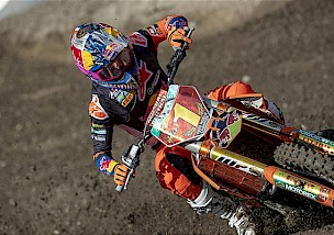 Pressebericht vom KTM Red Bull Factory Racing Team zum MXGP in Garda Trentino.